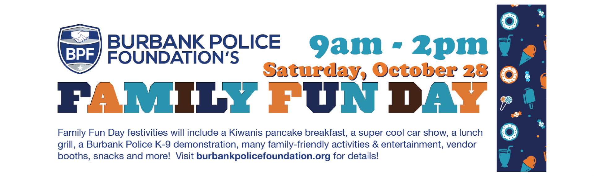 Burbank Police Foundation Family Fun Day - Oct 28