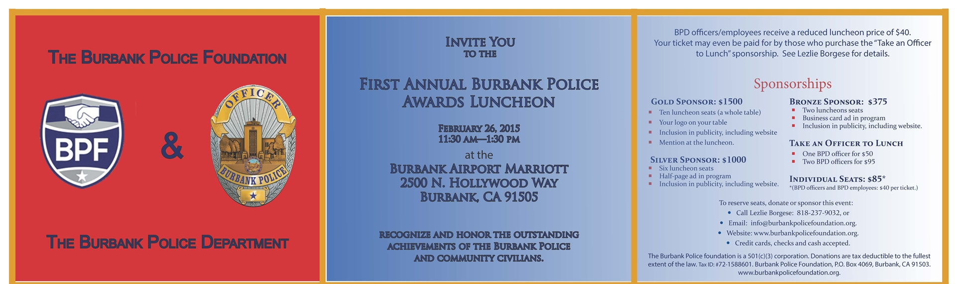 FIRST ANNUAL BURBANK POLICE AWARDS LUNCHEON 02-26-15
